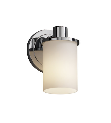 Justice Design Fusion Rondo 1-Light Wall Sconce in Polished Chrome FSN-8511-10-OPAL-CROM photo