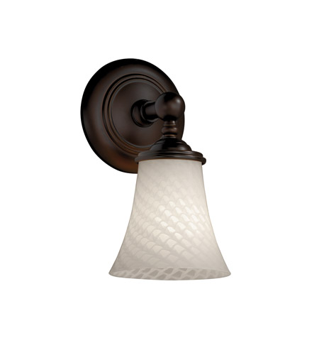 Justice Design FSN-8521-20-WEVE-DBRZ Fusion 1 Light 6 inch Dark Bronze Wall Sconce Wall Light in Weave photo