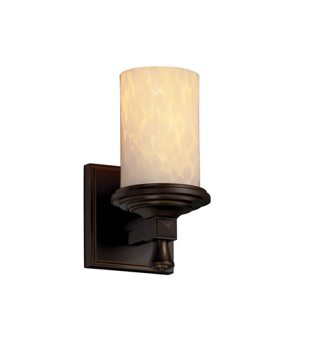 Justice Design FSN-8531-10-DROP-DBRZ Fusion 1 Light 5 inch Dark Bronze Wall Sconce Wall Light in Droplet photo