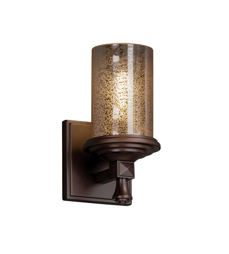 Wall Sconces With Mercury Glass : Justice Design FSN-8531-10-MROR-DBRZ Fusion 1 Light 5 inch Dark Bronze Wall Sconce Wall Light in ...