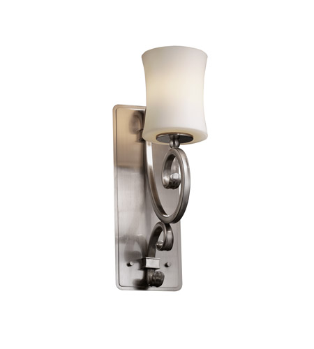 Justice Design Fusion Victoria 1-Light Wall Sconce (Medium) in Brushed Nickel FSN-8578-60-OPAL-NCKL photo