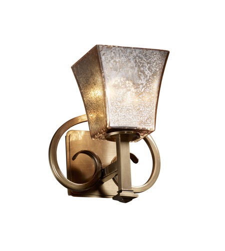 Justice Design Fusion Heritage 1-Light Wall Sconce in Antique Brass FSN-8581-40-MROR-ABRS photo