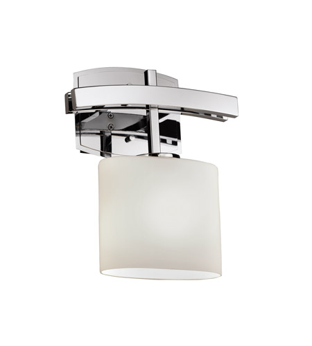 Justice Design Fusion Archway 1-Light Wall Sconce in Polished Chrome FSN-8591-30-OPAL-CROM photo