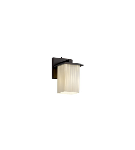 Justice Design FSN-8671-15-RBON-DBRZ Fusion 1 Light 5 inch Dark Bronze Wall Sconce Wall Light in Ribbon photo