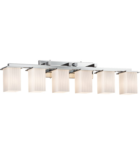 Justice Design Fusion Montana 6-Light Bath Bar in Polished Chrome FSN-8686-15-RBON-CROM photo
