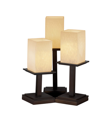Justice Design Fusion Montana 3-Light Table Lamp in Dark Bronze FSN-8697-15-DROP-DBRZ photo