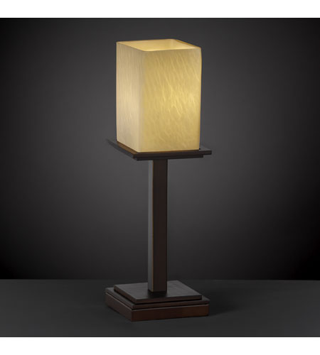 Justice Design Fusion Montana 1-Light Table Lamp (Tall) in Dark Bronze FSN-8699-15-DROP-DBRZ photo