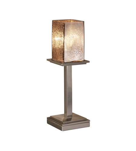 Justice Design Fusion Montana 1-Light Table Lamp (Tall) in Brushed Nickel FSN-8699-15-MROR-NCKL photo