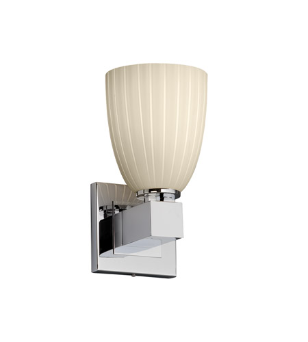 Justice Design Fusion Aero 1-Light Wall Sconce (No Arms) in Polished Chrome FSN-8705-18-RBON-CROM photo