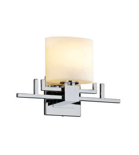 Justice Design Fusion Aero Ada 1-Light Wall Sconce in Polished Chrome FSN-8711-30-OPAL-CROM photo