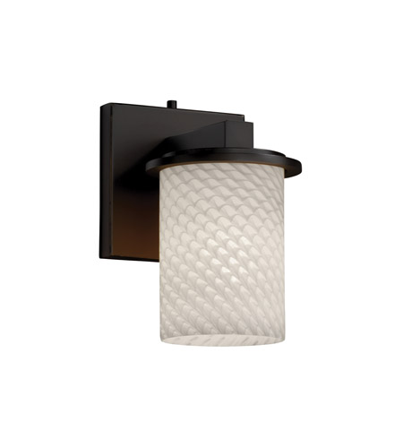 Justice Design FSN-8771-10-WEVE-DBRZ Fusion 1 Light 5 inch Dark Bronze Wall Sconce Wall Light in Weave photo