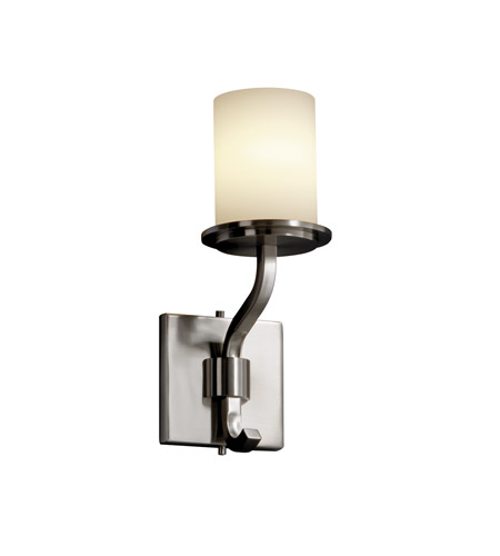 Justice Design FSN-8781-10-OPAL-NCKL Fusion 1 Light 5 inch Brushed Nickel Wall Sconce Wall Light in Opal photo