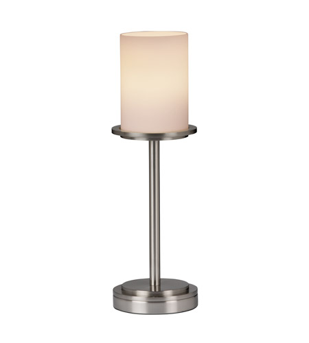 Justice Design Fusion Dakota 1-Light Table Lamp (Tall) in Brushed Nickel FSN-8799-10-OPAL-NCKL photo