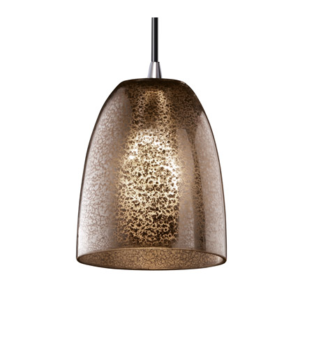 Justice Design Fusion Mini 1-Light Pendant in Polished Chrome FSN-8815-18-MROR-CROM photo