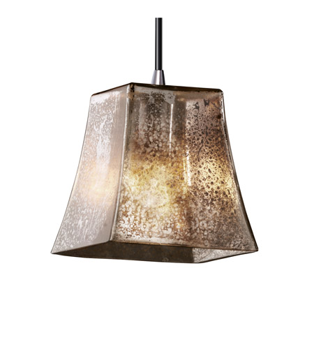 Justice Design Fusion Mini 1-Light Pendant in Polished Chrome FSN-8815-40-MROR-CROM photo