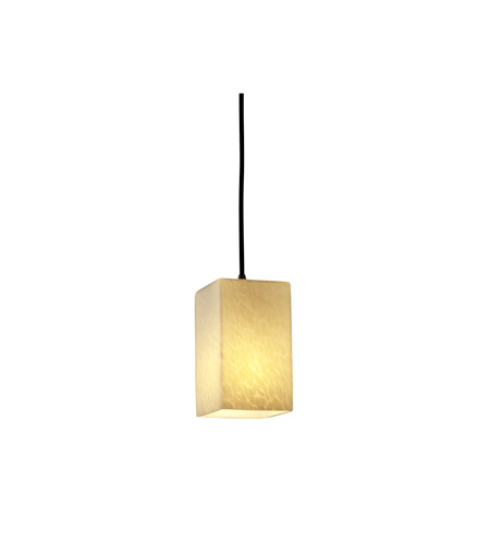 Justice Design Fusion Pendants Small 1-Light Pendant in Matte Black FSN-8816-15-DROP-MBLK photo