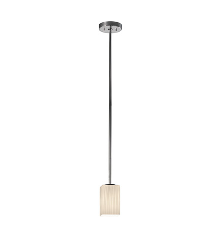 Justice Design Fusion Pendants Small 1-Light Pendant in Polished Chrome FSN-8816-15-RBON-CROM photo