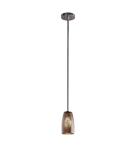 Justice Design FSN-8816-28-MROR-CROM-RIGID Fusion 1 Light 4 inch Polished Chrome Pendant Ceiling Light in Rigid Stem Kit, Mercury Glass, Tall Tapered Cylinder photo