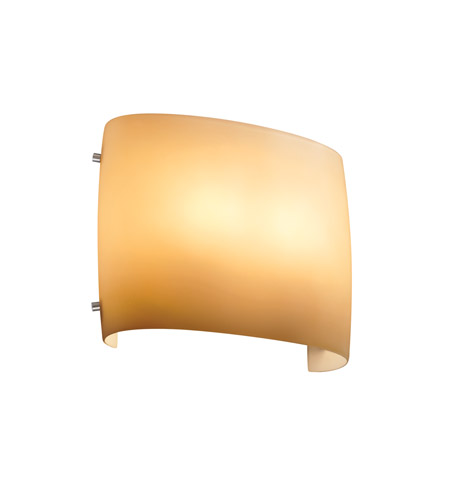 Justice Design FSN-8855-ALMD-NCKL Signature 2 Light 12 inch Brushed Nickel ADA Wall Sconce Wall Light in Almond, Incandescent