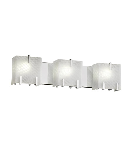 Justice Design FSN-8873-WEVE-CROM Fusion 3 Light 26 inch Polished Chrome Bath Light Wall Light in Weave
