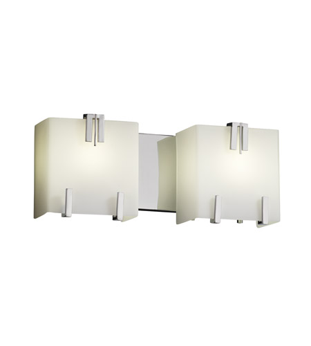 Justice Design FSN-8882-OPAL-CROM Fusion 2 Light 16 inch Polished Chrome Bath Light Wall Light in Opal