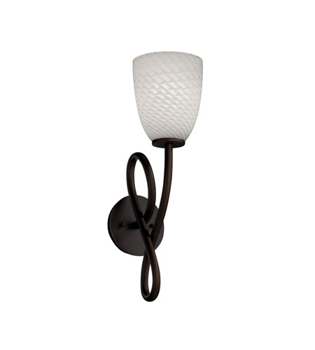 Justice Design Fusion Capellini 1-Light Wall Sconce in Dark Bronze FSN-8911-18-WEVE-DBRZ photo