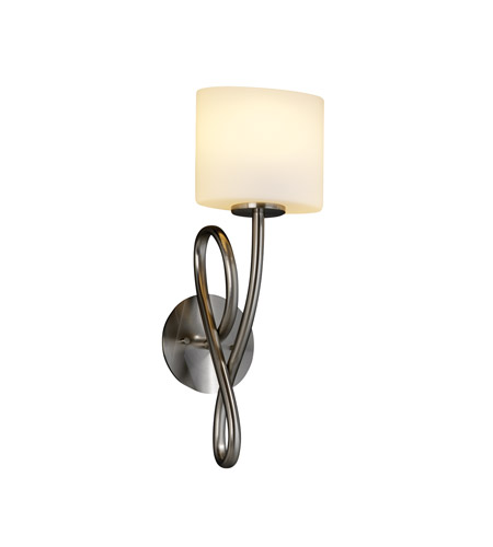 Justice Design Fusion Capellini 1-Light Wall Sconce in Brushed Nickel FSN-8911-30-OPAL-NCKL photo