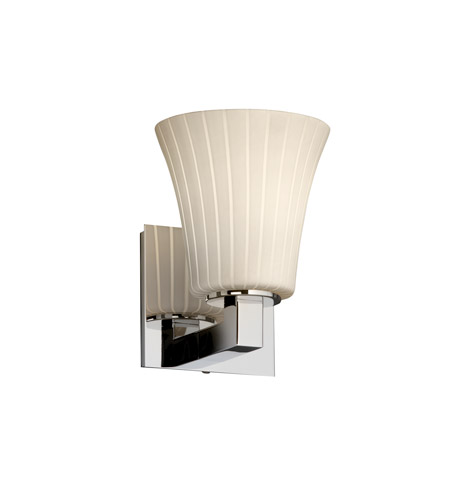 Justice Design Fusion Modular 1-Light Wall Sconce in Polished Chrome FSN-8921-20-RBON-CROM photo