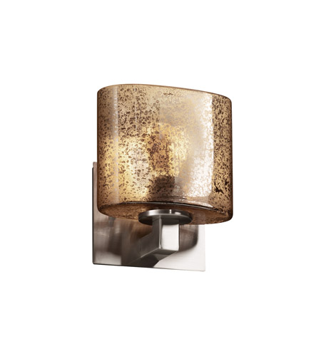 Justice Design Fusion Modular 1-Light Wall Sconce (ADA) in Brushed Nickel FSN-8931-30-MROR-NCKL photo