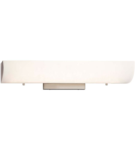 Justice Design FSN-9061-OPAL-NCKL Fusion LED 20 inch Brushed Nickel Linear Wall/Bath Wall Light in Opal