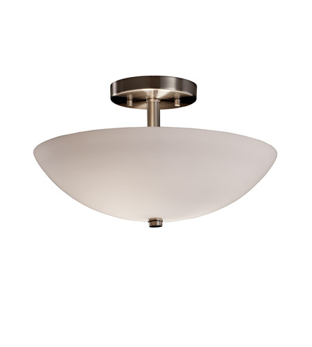 Justice Design FSN-9690-35-OPAL-NCKL Fusion 2 Light Brushed Nickel Semi-Flush Bowl Ceiling Light in Opal photo