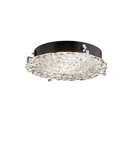 Justice Design GLA-5547-LACE-MBLK-LED3-3000 Veneto Luce LED 17 inch Matte Black Flush Mount Ceiling Light in 3000 Lm LED photo