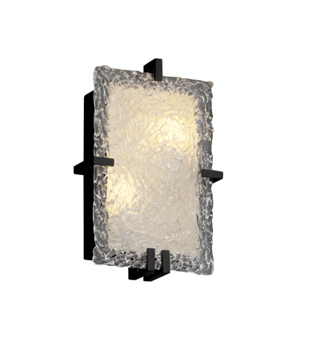 Justice Design GLA-5551-LACE-MBLK Veneto Luce 2 Light 9 inch Matte Black ADA Wall Sconce Wall Light in Incandescent photo
