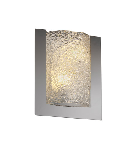 Justice Design Veneto Luce Framed Rectangle 3-Sided Wall Sconce (Ada) in Black Nickel GLA-5562-LACE-BLKN photo