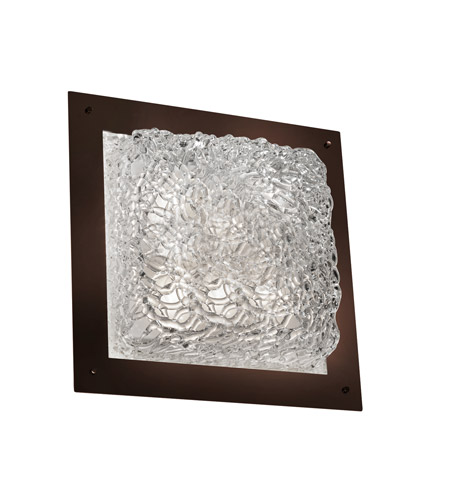 Justice Design Signature Wall Sconce in Dark Bronze GLA-5567-LACE-DBRZ-LED-3000