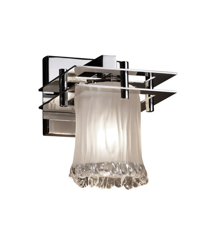 Justice Design GLA-8171-16-WTFR-CROM-LED1-700 Veneto Luce LED 7 inch Polished Chrome Wall Sconce Wall Light, Metropolis photo