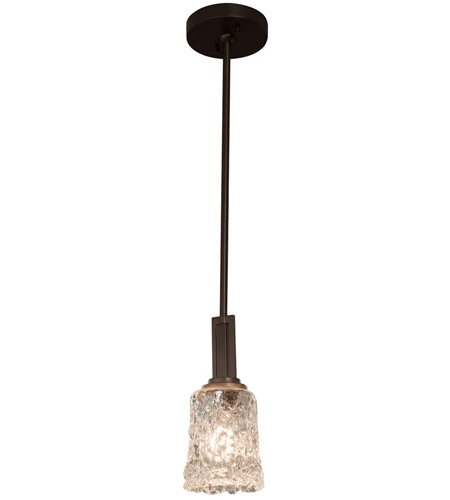 Justice Design GLA-8445-20-LACE-DBRZ Veneto Luce 1 Light 5 inch Dark Bronze Pendant Ceiling Light in Lace (Veneto Luce), Round Flared, Incandescent photo