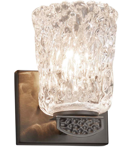 Justice Design GLA-8491-26-GLDC-DBRZ-LED1-700 Veneto Luce Malleo LED 6 inch Dark Bronze Wall Sconce Wall Light photo
