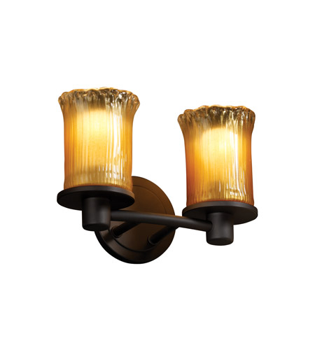 Justice Design GLA-8512-16-GLDC-MBLK Veneto Luce 2 Light 12 inch Matte Black Bath Bar Wall Light in Gold with Clear Rim (Veneto Luce) photo