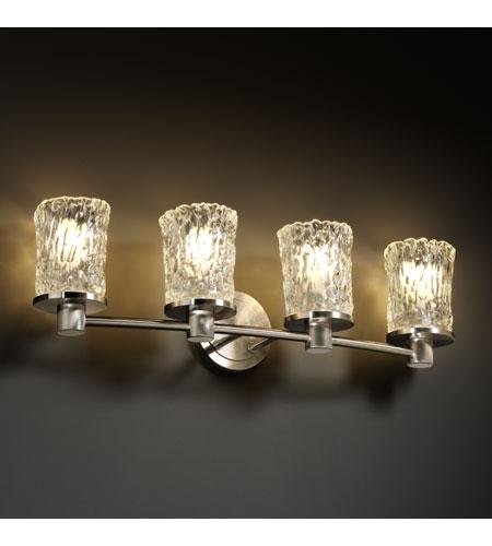 Justice Design GLA-8514-16-CLRT-NCKL Veneto Luce 4 Light 28 inch ...
