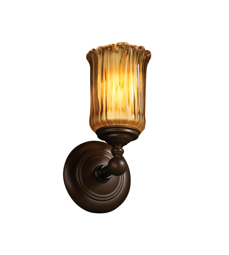 Justice Design GLA-8521-16-WTFR-CROM-LED1-700 Veneto Luce LED 6 inch Polished Chrome Wall Sconce Wall Light, Tradition photo