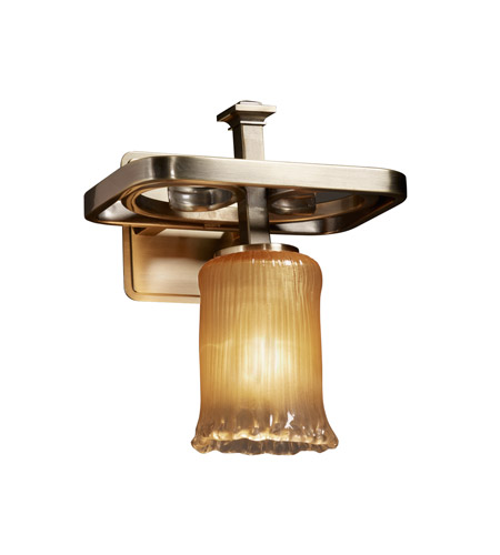 Justice Design Veneto Luce Arcadia 1-Light Wall Sconce in Antique Brass GLA-8561-16-GLDC-ABRS photo