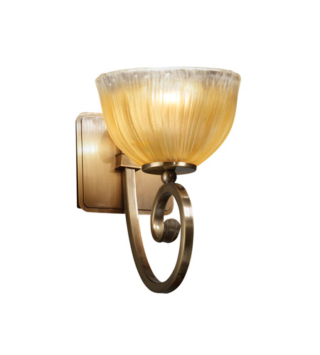 Justice Design Veneto Luce Victoria 1-Light Wall Sconce in Antique Brass GLA-8571-36-GLDC-ABRS photo