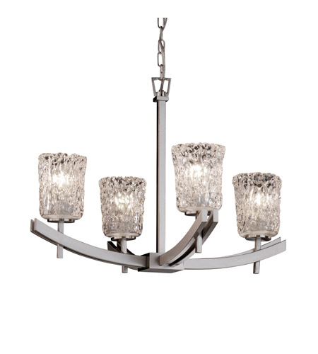 Justice Design Archway 4 Light Chandelier In Brushed