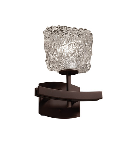 Justice Design GLA-8591-30-LACE-DBRZ Veneto Luce 1 Light 9 inch Dark Bronze Wall Sconce Wall Light in Lace (Veneto Luce), Oval photo