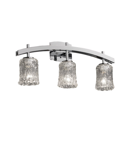 Justice Design Veneto Luce Archway 3-Light Bath Bar in Polished Chrome GLA-8593-16-CLRT-CROM photo