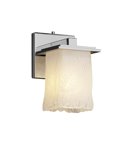 Justice Design Veneto Luce Montana 1-Light Wall Sconce in Polished Chrome GLA-8671-26-WHTW-CROM photo