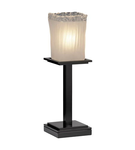 Justice Design Veneto Luce Montana 1-Light Table Lamp (Tall) in Matte Black GLA-8699-26-WTFR-MBLK photo