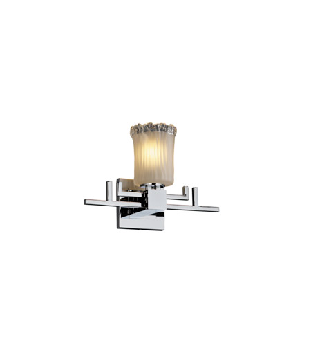 Justice Design Veneto Luce Aero 1-Light Wall Sconce in Polished Chrome GLA-8701-16-WTFR-CROM photo