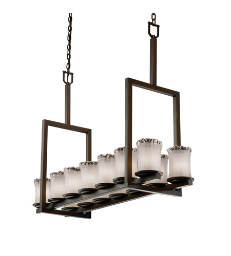 Justice Design GLA-8764-16-WHTW-MBLK-LED14-9800 Veneto Luce 14 Light 42 inch Matte Black Chandelier Ceiling Light photo
